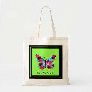 Stained Glass Butterfly Tote Bags