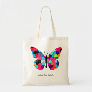 Stained Glass Butterfly Canvas Bags