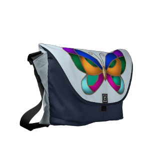 Stained Glass Butterfly Commuter Bags
