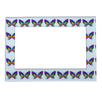 Stained Glass Butterfly Magnetic Picture Frame