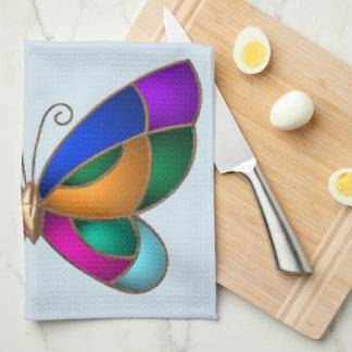 Stained Glass Butterfly Tea Towel