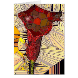 Stained Glass Calla Lily Greeting Card