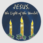 Stained glass candles sticker