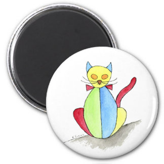 Stained Glass Cat Magnet