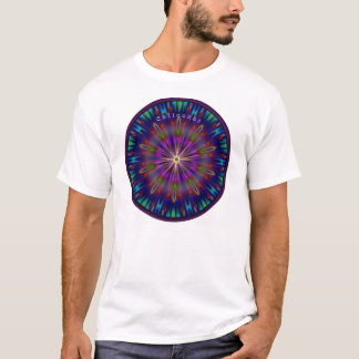 Stained Glass Center Sun  T-Shirt
