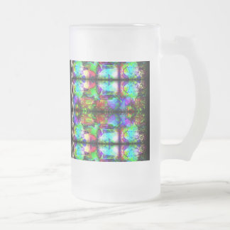 Stained-Glass chain pattern by Valxart.com Frosted Glass Mug