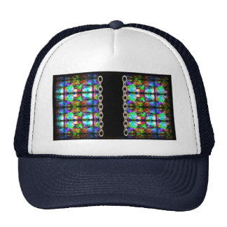 Stained-Glass chain pattern by Valxart.com Mesh Hat