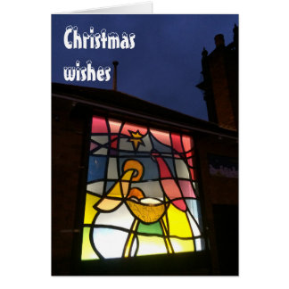 Stained glass Christmas wishes card