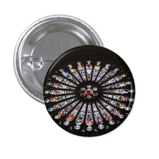 Stained-Glass Church Rose Window 3 Cm Round Badge
