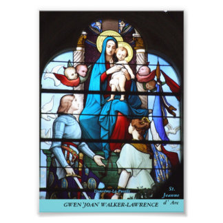 Stained Glass Collection - Joan of Arc Art Photo