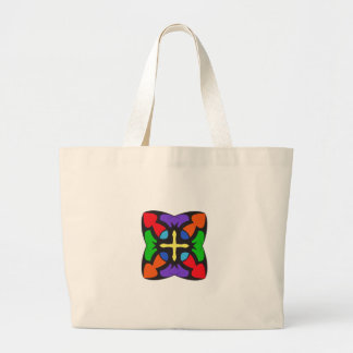 STAINED GLASS CROSS CANVAS BAGS