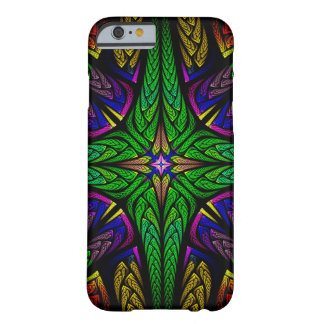 Stained glass cross (green) iPhone 6 case