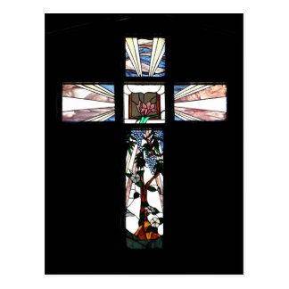 Stained Glass Cross - Postcard