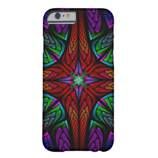 Stained glass cross (red) barely there iPhone 6 case