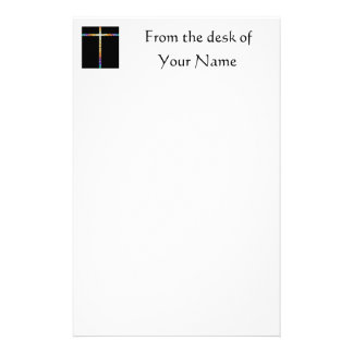 Stained Glass Cross - stationary Stationery