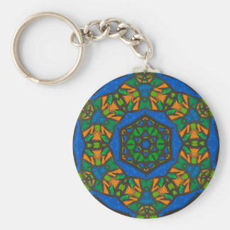 Stained Glass Design Gift for Her Key Ring