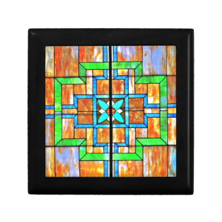 Stained glass detail gift box