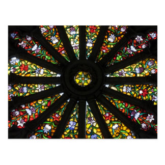 Stained Glass detail Postcard