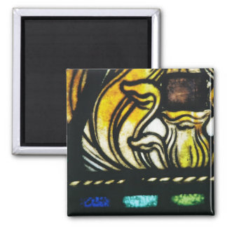 Stained Glass Detail Square Magnet
