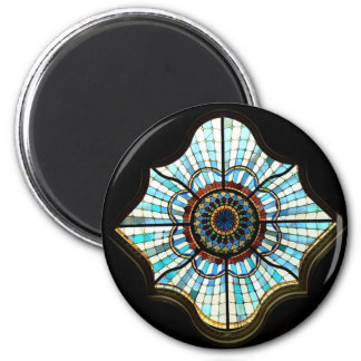 Stained glass dome 6 cm round magnet