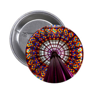 Stained Glass Dome Button