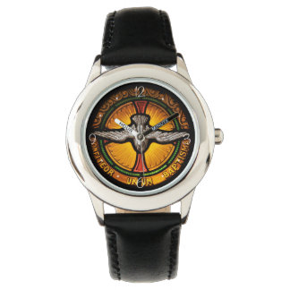 Stained glass dove wrist watch