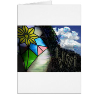 stained glass dreams greeting card