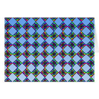 Stained Glass Effect Floral Pattern. Note Card