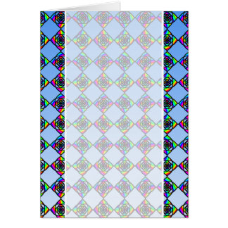 Stained Glass Effect Floral Pattern. Greeting Card