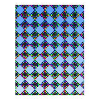 Stained Glass Effect Floral Pattern. Postcard