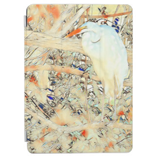 Stained Glass Egret iPad Air Cover