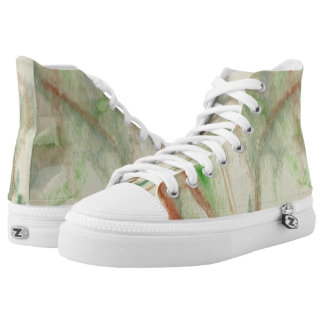 Stained Glass Fireworks Hi Top Printed Shoes