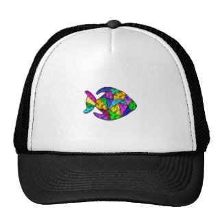 stained glass fish cap