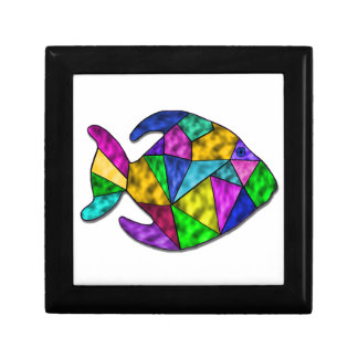 stained glass fish gift box