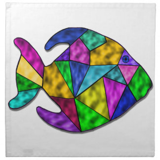 stained glass fish napkin