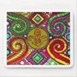 Stained Glass Fleur De Lis Abstract Mousepads