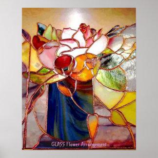 Stained Glass Flower Arrangement Elegant Poster
