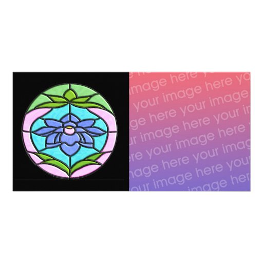 STAINED GLASS FLOWER by SHARON SHARPE Photo Card
