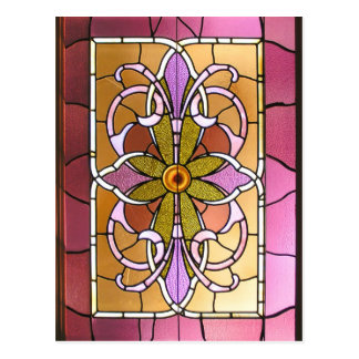 Stained Glass Flower Postcard