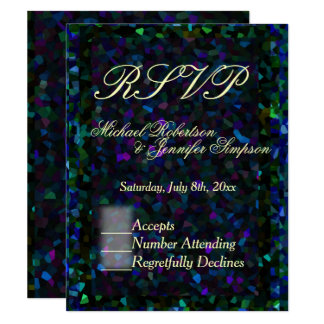 Stained Glass Glitter 11 Cm X 14 Cm Invitation Card
