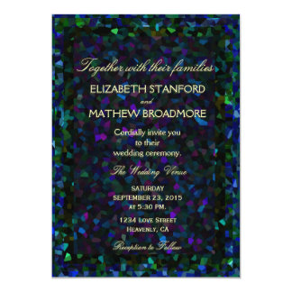 Stained Glass Glitter 5x7 Paper Invitation Card