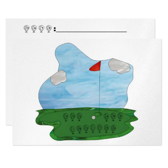 Stained Glass Golf Party Invite