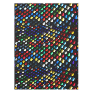 Stained Glass Honeycomb Geometric Tablecloth