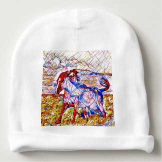 Stained Glass Horse race Baby Beanie