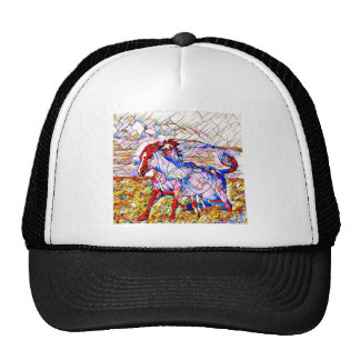 Stained Glass Horse race Cap
