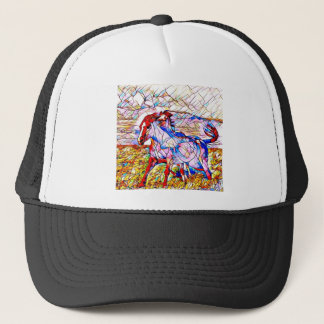 Stained Glass Horse race Trucker Hat