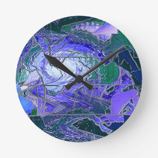 Stained Glass Hurricane Round Clock