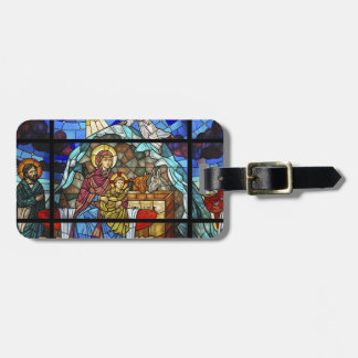 Stained Glass image of Christ Luggage Tag