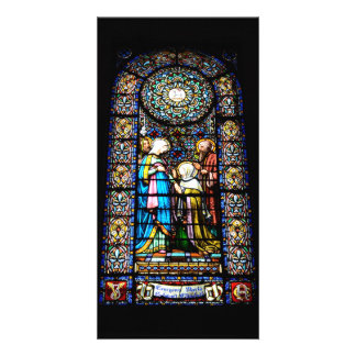 Stained Glass in Montserrat Photo Card