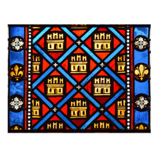 Stained glass in Sainte Chapelle in Paris Postcard